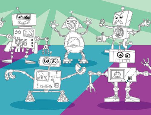 رنگآمیزی ربات ها