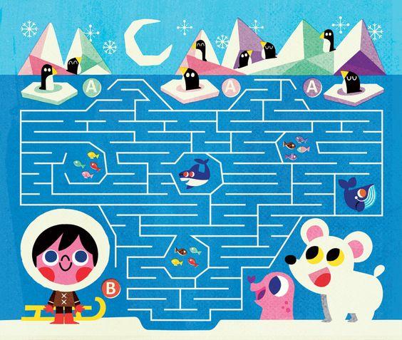 بازی-ماز-برای-کودکان - پازل-پیرامون